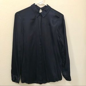 Zara Navy Blouse